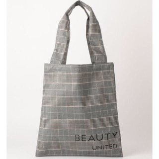 BEAUTY&YOUTH UNITED ARROWS - BEAUTY&YOUTH ロゴチェック パーテーション トートバッグ