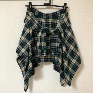 アングリッド(Ungrid)のungrid♡チェックSHスカート(ひざ丈スカート)