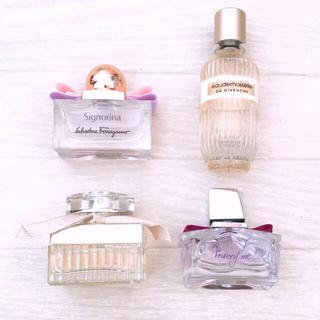 クロエ(Chloe)の【定価3万円相当】香水4個セット クロエランバンジバンシーフェラガモ(香水(女性用))