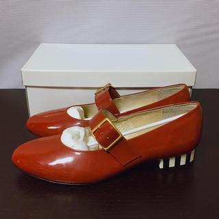 ジェーンマープル(JaneMarple)のNeb aaran do  ネバアランド  世界のはての靴  赤(ローファー/革靴)