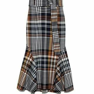 snidel - 大幅に値下げする snidel チェックマーメイドスカート
