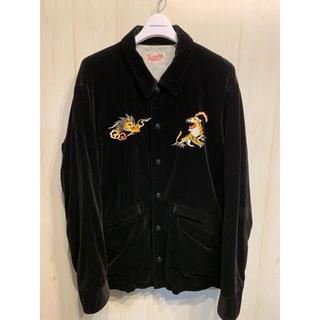 テンダーロイン(TENDERLOIN)のTENDERLOIN テンダーロイン 別珍 ベロア 刺繍 スーベニア ジャケット(ブルゾン)