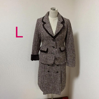 未使用 オットー  11 号 しっかり厚み ツイード  モヘヤ ウール スーツ(スーツ)