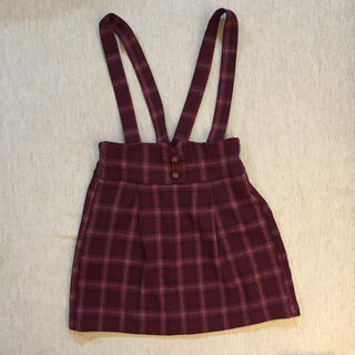 【GU】サロペットスカート 110