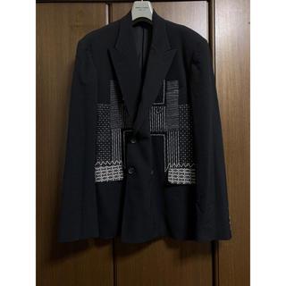 Yohji Yamamoto -  95SS ヨウジオム 刺し子デザインジャケット 【1035】
