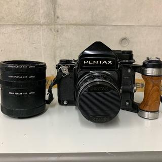 PENTAX - PENTAX 6×7 木製グリップ ストラップ付き 11月15日までの限定出品