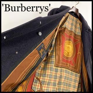 バーバリー(BURBERRY)のBURBERRY バーバリー ウールコート 裏地総柄 高級 スカーフ 美品(ロングコート)