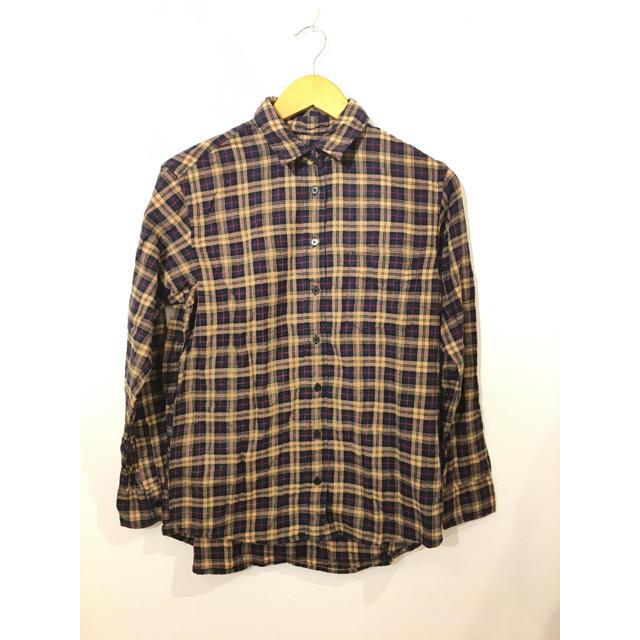 UNIQLO(ユニクロ)の①ユニクロ チェック柄長袖シャツ #Cattleya  レディースのトップス(シャツ/ブラウス(長袖/七分))の商品写真