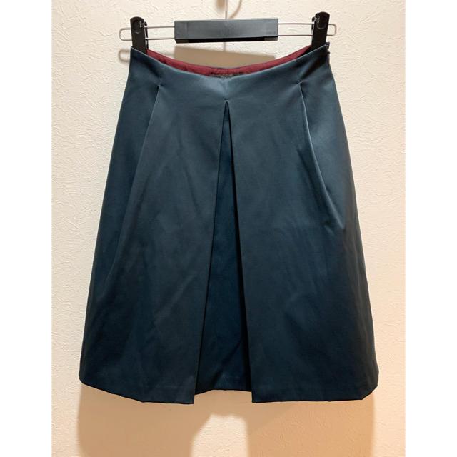 Demi-Luxe BEAMS(デミルクスビームス)の新品タグ付き⭐️Demi-Luxe BEAMS⭐️ボックスタックサテンスカート レディースのスカート(ひざ丈スカート)の商品写真