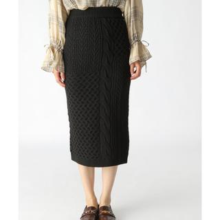 ミスティウーマン(mysty woman)のケーブルニットタイトスカート(ロングスカート)