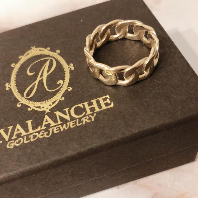 AVALANCHE(アヴァランチ)のAVALANCHE アバランチ 10K 13号 マイアミキューバン  メンズのアクセサリー(リング(指輪))の商品写真