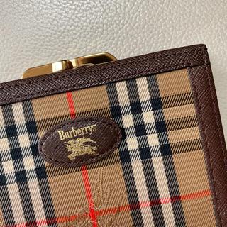 BURBERRY - オールドバーバリー Burberry がま口財布 シャドーホース柄