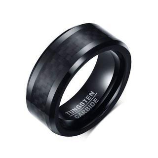 ブランド シンプル タングステン 指輪 19 黒 おしゃれ リング メンズ (リング(指輪))