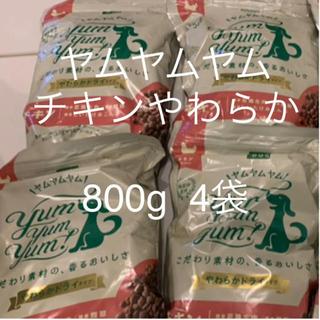 ヤムヤムヤム チキン やわらかドライタイプ小粒 犬用 800g 4袋
