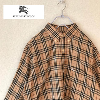 BURBERRY - b3 バーバリー  ノバチェック  シャツ 大きめ