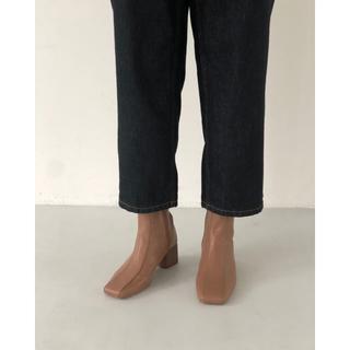 トゥデイフル(TODAYFUL)のT01128/TODAYFUL Squaretoe Ankle Boots 38(ブーツ)
