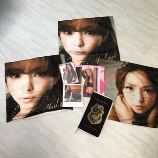 エイチアンドエム(H&M)の安室奈美恵、グッズセット、パスポートケース、ハンカチ、クッションカバー、ミラー(ミュージシャン)