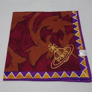 ヴィヴィアンウエストウッド(Vivienne Westwood)の新品 ヴィヴィアンウエストウッド 大判ハンカチ スカーフ ワイン④(バンダナ/スカーフ)