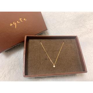 アガット(agete)のagete ダイヤのネックレス K18(ネックレス)