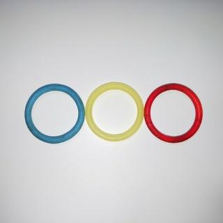 信号カラー☆シンプルなリング3本セット(リング(指輪))