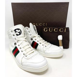 Gucci - GUCCI☆ スニーカー GG リボン シェリーライン メンズ ホワイト