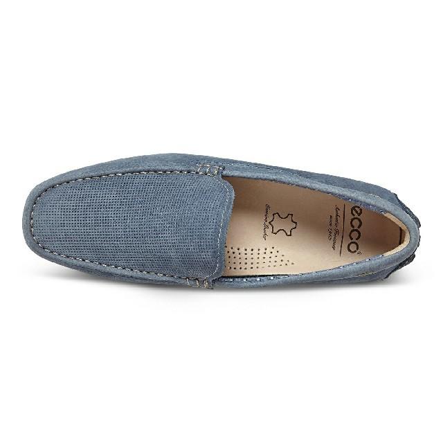 ecco メンズシューズ  デニムブルー デッキシューズ スリッポン メンズの靴/シューズ(スリッポン/モカシン)の商品写真