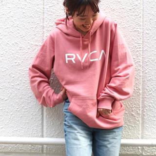 ルーカ(RVCA)のRVCA ロゴパーカー ピンク Sサイズ ❤︎(パーカー)