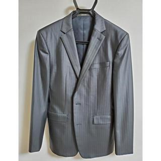 コムサメン(COMME CA MEN)のコムサメン スーツ パンツ 上下セット 黒 BLACK セットアップ 46サイズ(セットアップ)