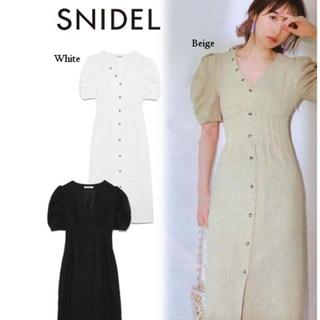 snidel - snidel リネンミディタイトワンピース