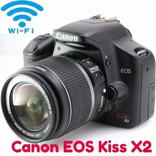 Canon - Wi-Fi SD付☆一眼デビューに最適☆CANON Kiss X2☆入門セット
