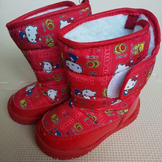 ハローキティ(ハローキティ)の【toptop様専用】スノーブーツ キティちゃん 赤色 14cm キッズ/ベビー/マタニティのベビー靴/シューズ(~14cm)(サンダル)の商品写真