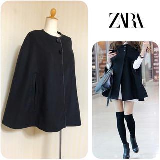 ZARA - ZARA ◆ ポンチョ コート ◆ マント ケープ