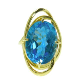 ブルー トパーズ  リング・指輪 K18(リング(指輪))
