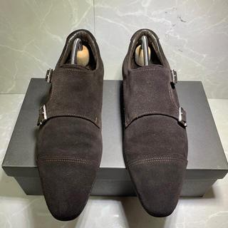 サンヨウヤマチョウ(SANYO YAMACHO)の美品 三陽山長 堅四 スエード  ダブルモンク 革靴 ビジネスシューズ(ドレス/ビジネス)