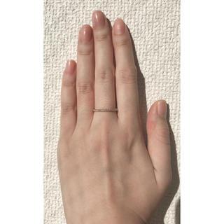 K18 18金ダイヤモンドハーフエタニティリング(リング(指輪))