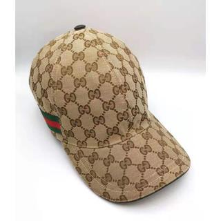 Gucci - GUCCI  シェリーラインベースボール キャップ GGキャンバス 美品