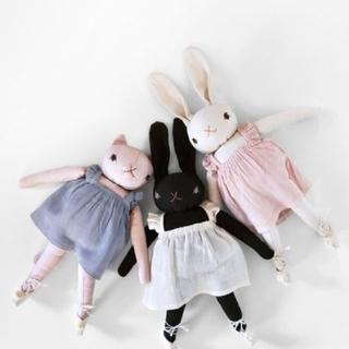 ボンポワン(Bonpoint)の【タグ付き】polka dot club rabbit 白 (ぬいぐるみ/人形)