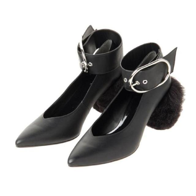 MURUA(ムルーア)のMURUA  2way パンプス 黒 レディースの靴/シューズ(ハイヒール/パンプス)の商品写真