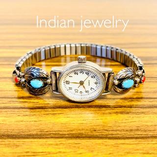 インディアン(Indian)のインディアンジュエリー 腕時計/ターコイズ シルバー バングル(腕時計)