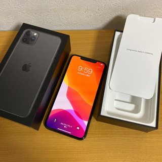 iPhone - 最安値  iPhone 11 pro max 256gb docomo グレー