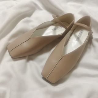 TODAYFUL - beige low heel pumps 24サイズ ラスト1点