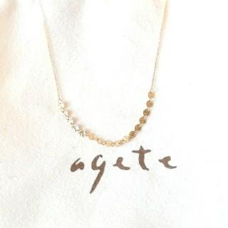 agete - アガット K10テクスチャーネックレス