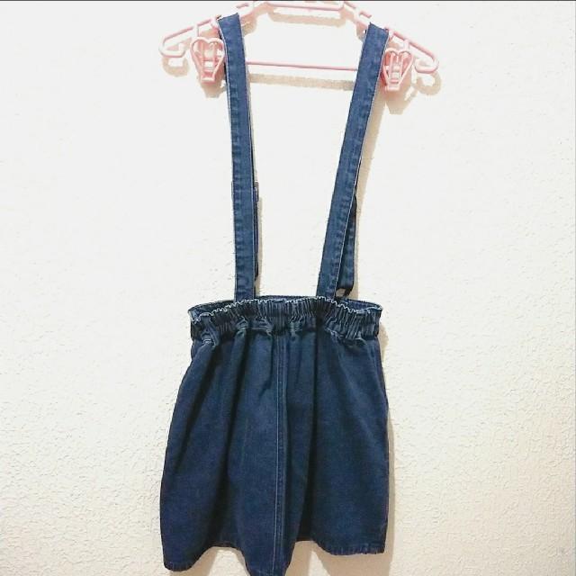 Avail(アベイル)の新品 Avail サスペンダー付き 台形 スカート♥️M GRL レディースのスカート(ミニスカート)の商品写真