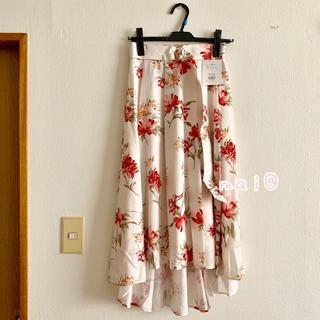 MERCURYDUO - 新品未使用タグつき‼︎ ボタニカルフラワーイレヘムスカート 花柄スカート