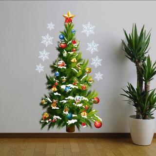 壁紙 おしゃれ  クリスマスツリー ウォールステッカー クリスマス 飾り