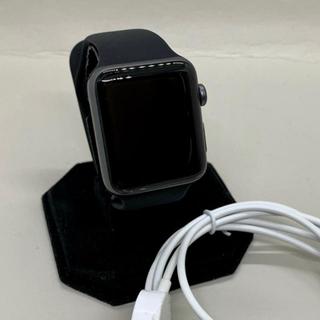 アップルウォッチ(Apple Watch)の【Applewatch】アップルウォッチ3 セルラー42mm スペースグレー(腕時計)