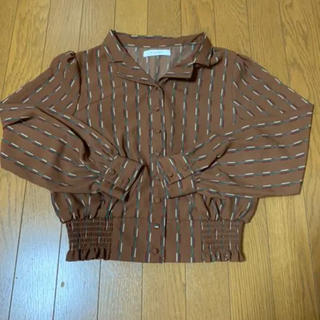 ダブルクローゼット(w closet)のウエストシャーリングブラウス(シャツ/ブラウス(半袖/袖なし))