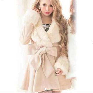 リュクスローズ(Luxe Rose)のLuxe rose 美品 コート(毛皮/ファーコート)