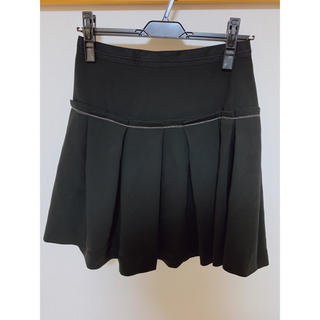 ランバンオンブルー(LANVIN en Bleu)のランバンオンブルー 膝丈フレアスカート[黒](ひざ丈スカート)