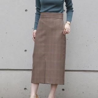 IENA - リエス チェックタイトスカート